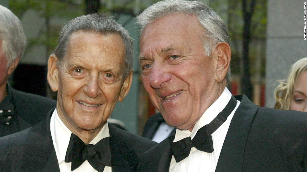 "Tony Randall and Klugman arrive at the ""NBC 75th Anniversary Special"" at Rockefeller Center in New York on May 5, 2002."