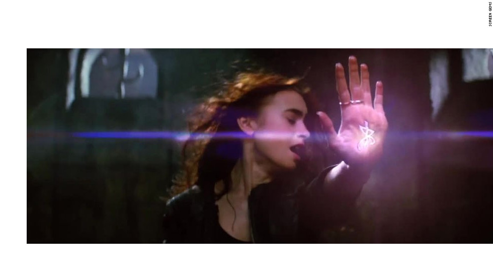 """The Mortal Instruments: City of Bones,"" which is based on the first novel in Cassandra Clare's YA series, stars Lily Collins, Jamie Campbell Bower and Robert Sheehan. The trio's love triangle is just one facet of this supernatural tale about Shadow hunters and demons. The flick will bow on August 23."