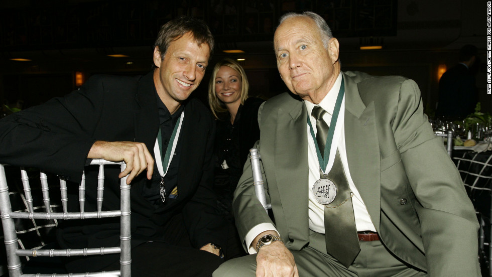 Tony Hawk, Lhotse Merriam and Schwarzkopf attend the 21st Annual Great Sports Legends Dinner to benefit The Buoniconti Fund to Cure Paralysis at the Waldorf Astoria on September 19, 2006, in New York.