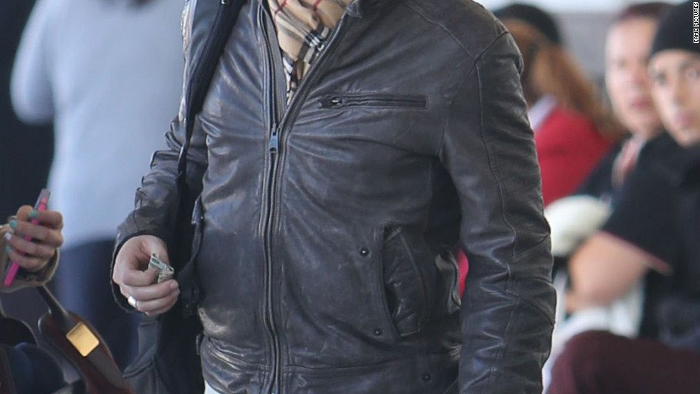 Ian Somerhalder arrives at the airport.