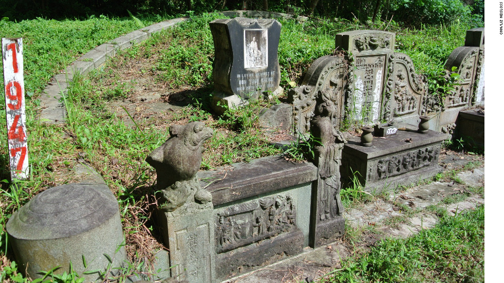 Oon Tuan Cheng's grave, part of a double tomb with her husband's, is marked for exhumation in Bukit Brown cemetery.