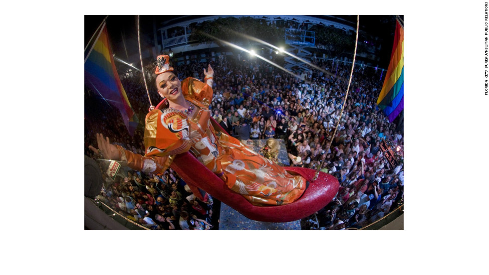 """For 16 years, Gary """"Sushi"""" Marion has taken center stage on New Year's Eve in Key West, Florida, as the star of the annual """"shoe drop."""""""