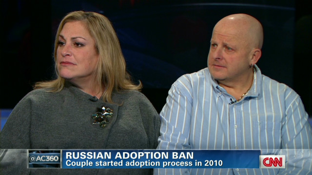 Russian adoption ban devastates couple