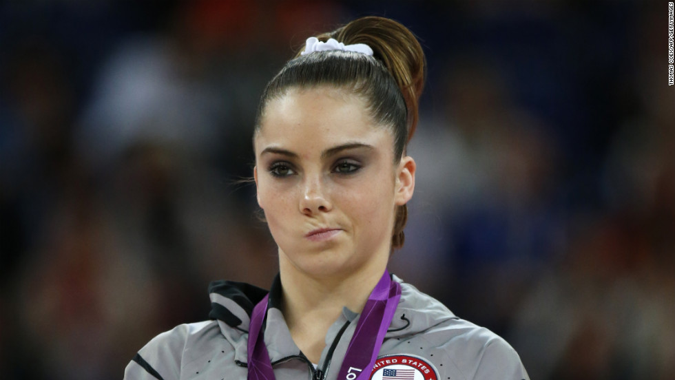 U.S. athlete McKayla Maroney was not impressed with winning a silver medal at the London Olympic Games.