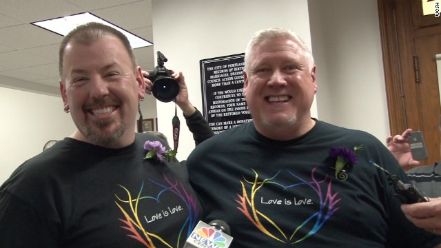Steven Bridges and Michael Snell were married early Saturday in Portland, Maine.