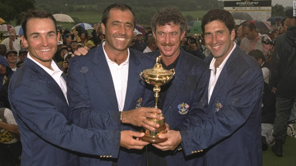 In 1997 Jimenez was assistant to team captain Seve Ballesteros as Europe retained the Ryder Cup at Spain's Valderrama Golf Club -- the first time it had been played outside of the U.S. and the UK.