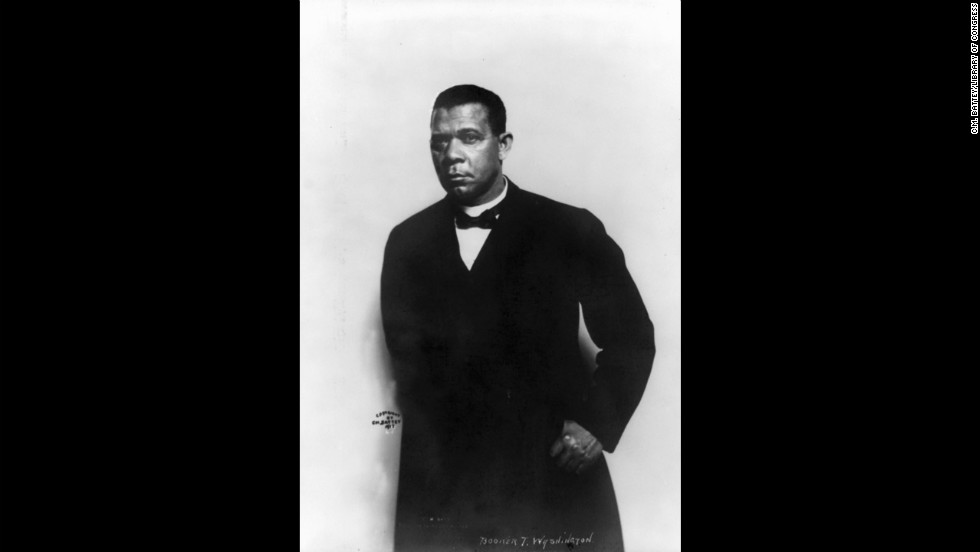 A portrait of renowned educator, author and political adviser Booker T. Washington, circa 1915.