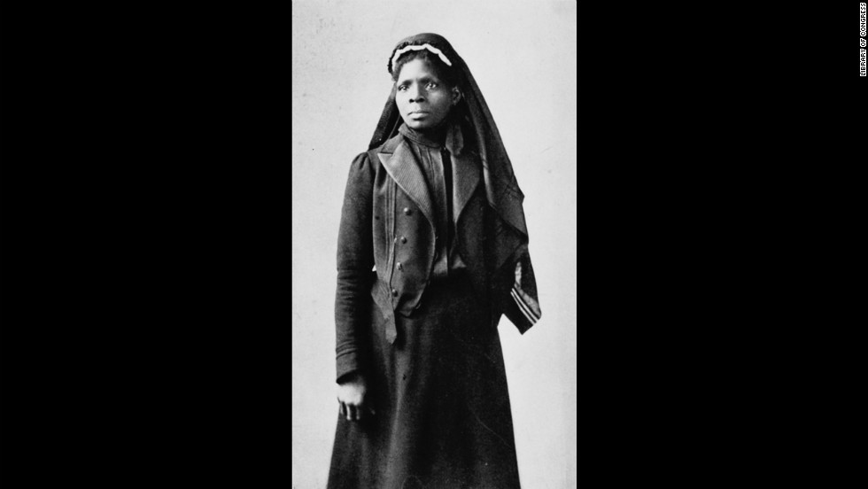"Georgia-born slave Susie King Taylor became a nurse to black Union soldiers during the Civil War. She's seen here in 1902. She wrote ""Reminiscences of My Life in Camp with the 33d United States Colored Troops, Late 1st S.C. Volunteers"" and taught freed slave children in school."