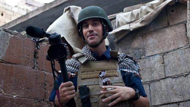 A picture taken on November 5 in Aleppo shows U.S. freelance reporter James Foley,