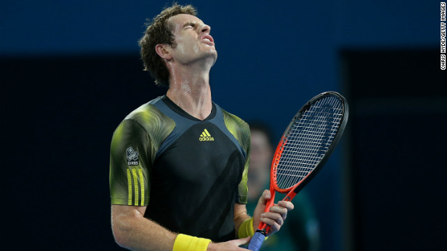 Andy Murray found it tough going in the heat at the Brisbane International on Thursday.