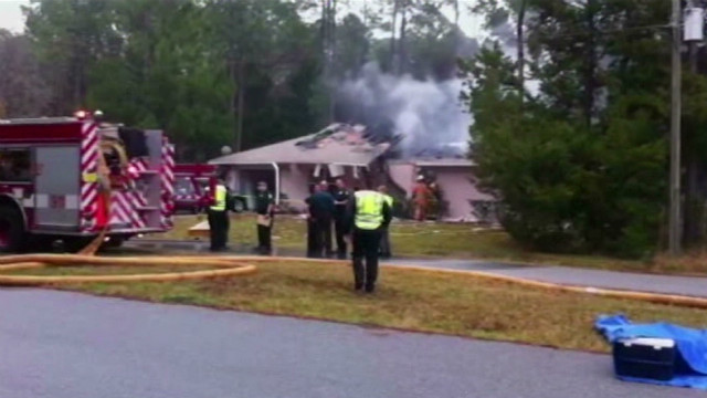 Small plane crashes into home