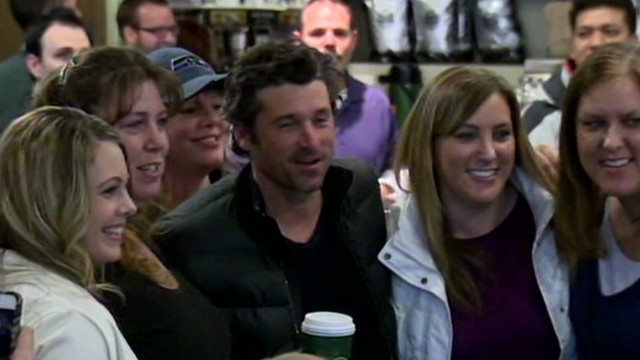 Dempsey draws fans to Tully's Coffee