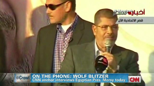 Blitzer interviews Egyptian Pres. Morsy