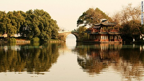 """Locally known as """"Paradise under heaven,"""" Hangzhou is home to the beautiful West Lake."""