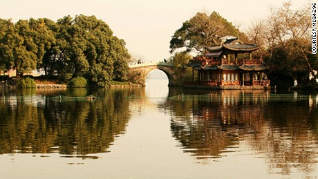 "Locally known as ""Paradise under heaven,"" Hangzhou is home to the beautiful West Lake."