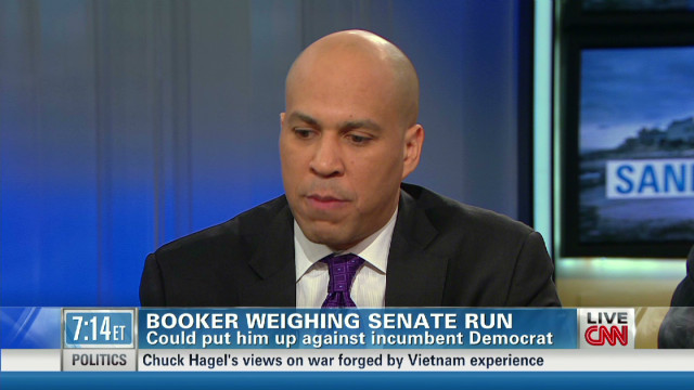 Booker: Lautenberg has decision to make