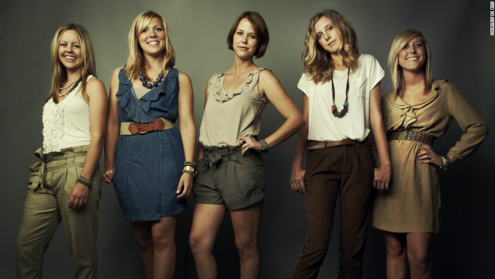 Jessie Simonson, Kallie Dovel, Anna Nelson, Brooke Hodges and Alli Swanson model jewelry from 31 Bits.  The five friends founded the company to help internally displaced women in Uganda rise out of poverty.