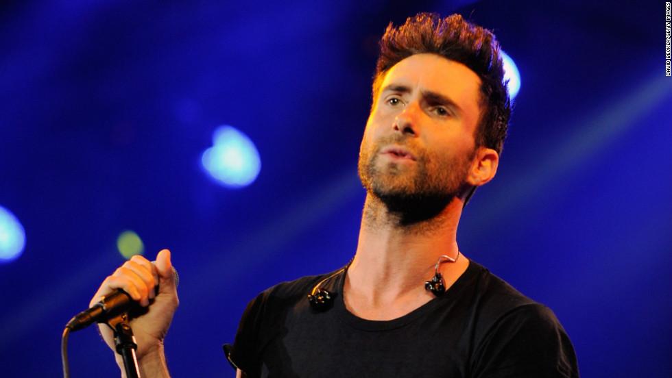 Maroon 5's Adam Levine performs in Las Vegas.
