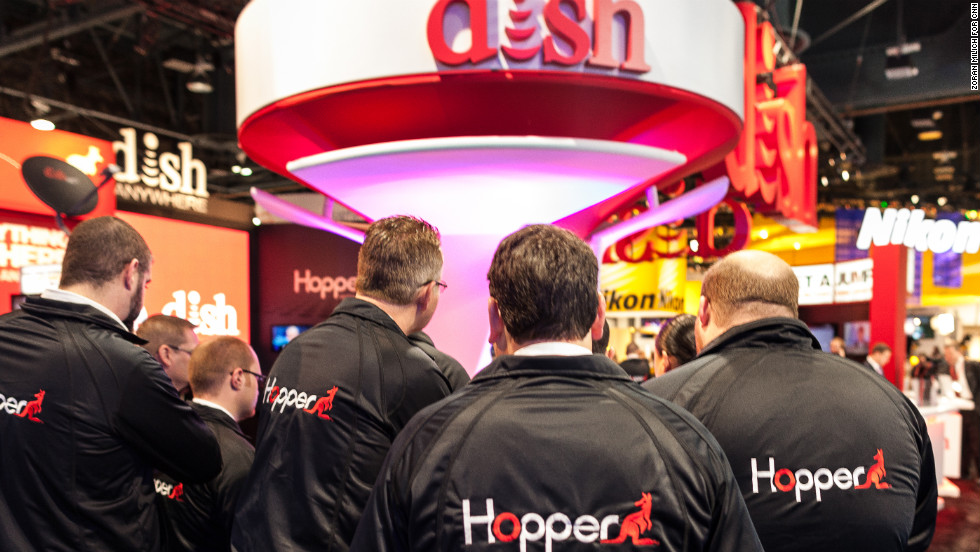 The Dish Network team exhibits at the Consumers Electronic Show in Las Vegas on Tuesday, January 8.