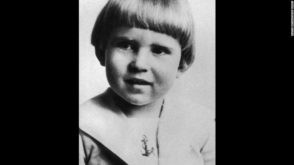 Nixon was born in California on January 9, 1913. He is pictured at age 4.