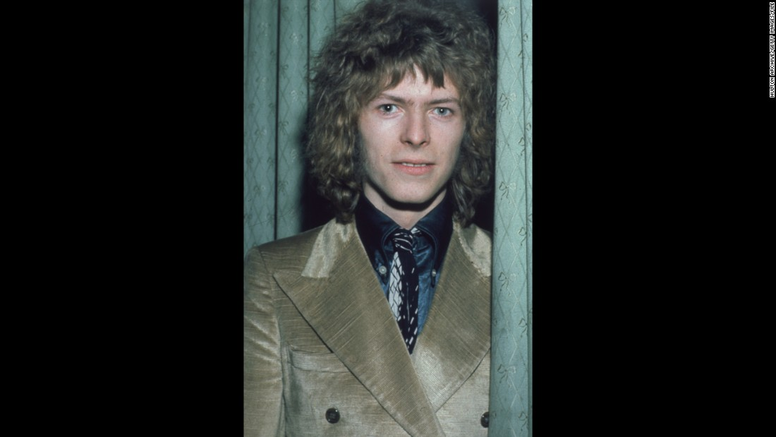 Bowie appears at the Disc and Music Echo Valentine Awards ceremony at the Cafe Royal in London in February 1970.