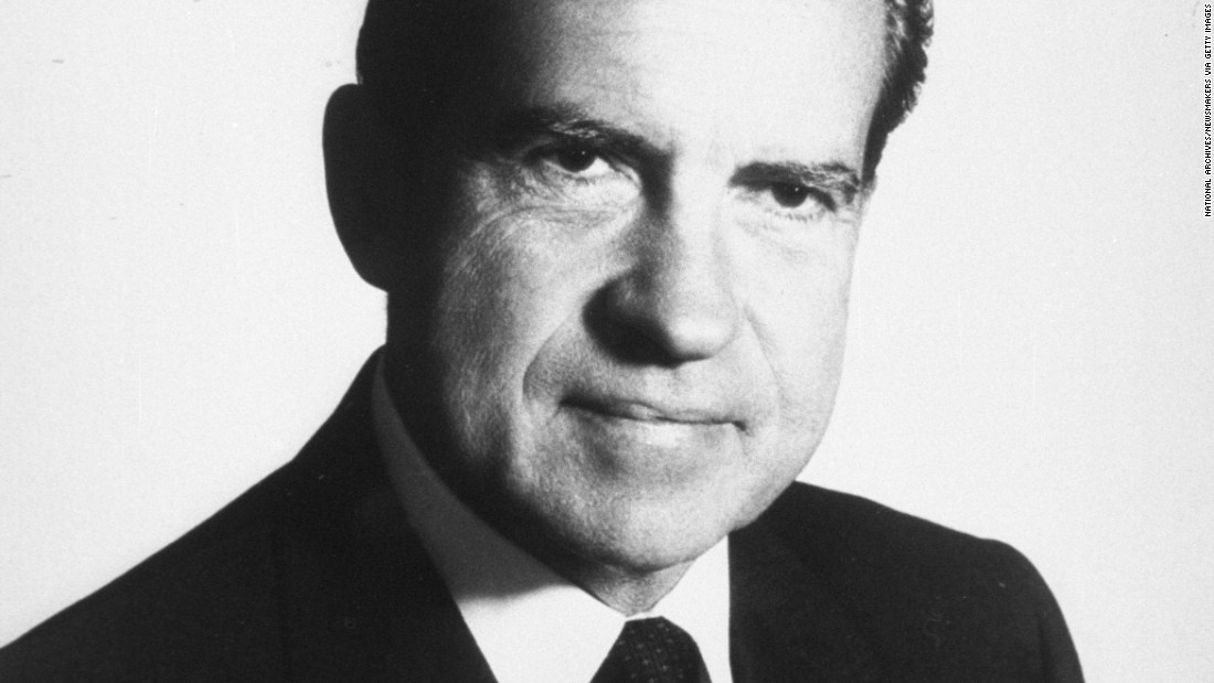 "President Richard Nixon was in the White House from 1969 to 1974, when he became the first president to resign from office. He died at 81 in 1994. Learn how the Watergate scandal brought down a presidency on ""The People vs. Richard Nixon"" episode of ""<a href=""/shows/the-seventies"" target=""_blank"">The Seventies</a>,"" Thursdays at 9 p.m. ET/PT on CNN."