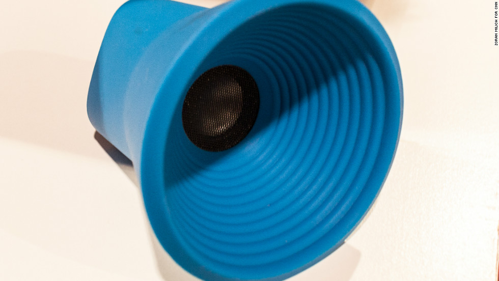 Sound Logic makes this rubber wireless speaker cone that connects via Bluetooth.