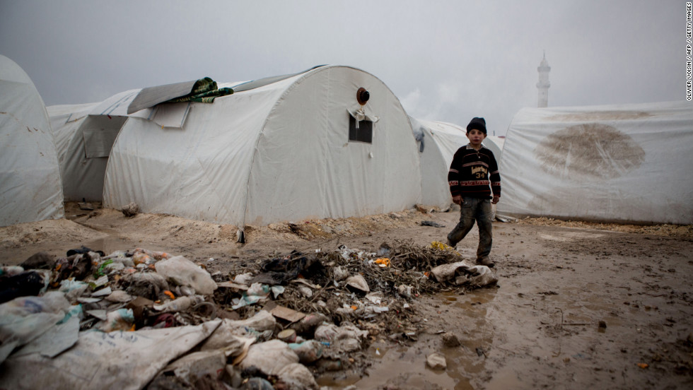 Brutal winter weather is making dire conditions even more unbearable in parts of the Middle East, particularly for Syrian refugees who must endure freezing temperatures in tents.