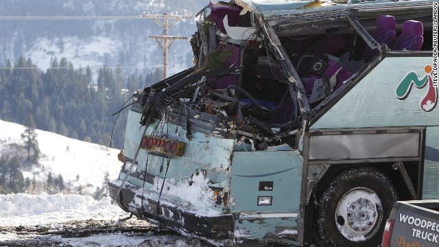 A tour bus crash in Oregon in December killed nine and injured 39.