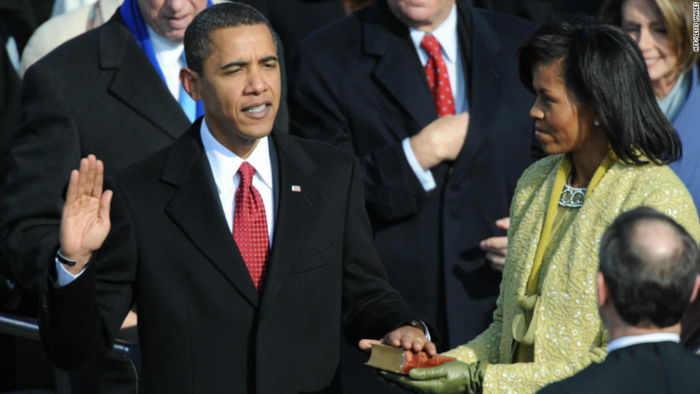 President Barack Obama will take the oath of office on Sunday at noon, officially beginning his second term.