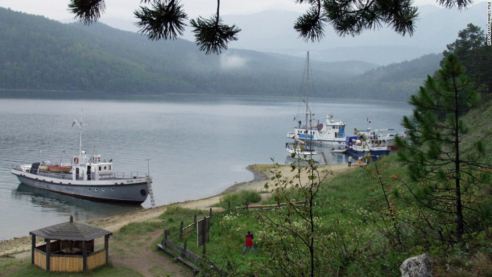 There's a stop at Siberia's Lake Baikal, the world's largest body of fresh water.