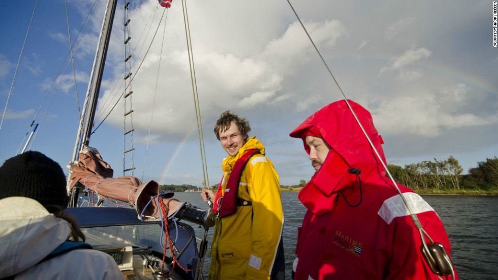 Founded by the covertly named Ijon (in yellow) and Riot (in Red), the group set sail to carry out their work at sea when they can.