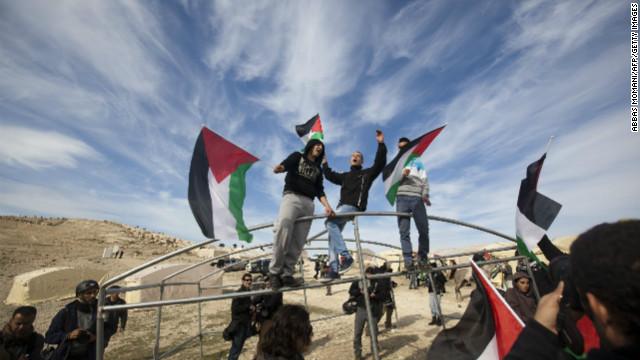 Palestinians react to Israeli plans
