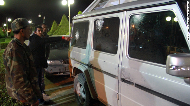 Gunmen targeted the car of the Italian consul general in Benghazi, Libya, on Saturday as he was leaving the consulate.