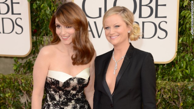 Tina Fey, left, and Amy Poehler hosted the 2013 Golden Globe awards.