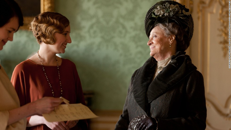 "Maggie Smith sealed the win for best performance by an actress in a supporting role in a series, miniseries or motion picture made for TV with her portrayal of the Dowager Countess of Grantham in ""Downton Abbey."" Like Harris, she wasn't at the ceremony to accept her award."