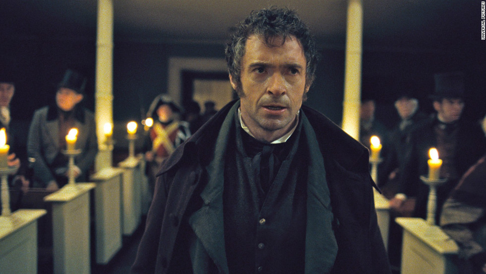 """Hugh Jackman earned the award for best actor in a comedy/musical, the first Golden Globe of his career, for his work in """"Les Misérables."""""""