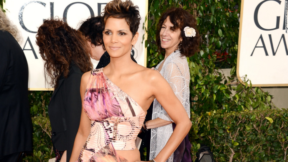 Halle Berry was one of several stars whose leg took center stage on the red carpet at the 2013 Golden Globes. While most of the women who donned slits opted for solid black or white gowns, Berry stood out in a colorful, printed frock.