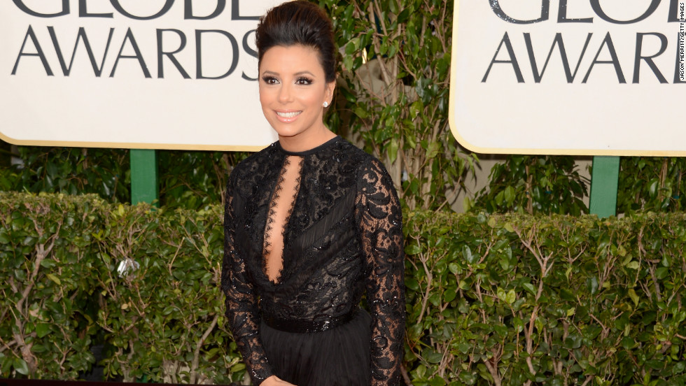 Eva Longoria's legs looked miles long in her custom Emilio Pucci gown.
