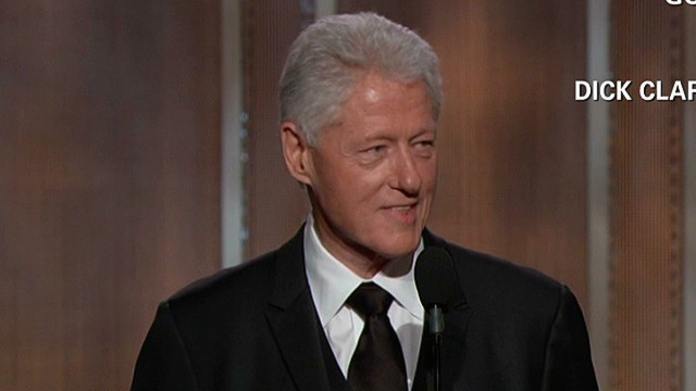 Bill Clinton surprises the stars