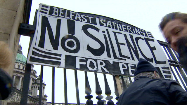 A march for peace in Northern Ireland