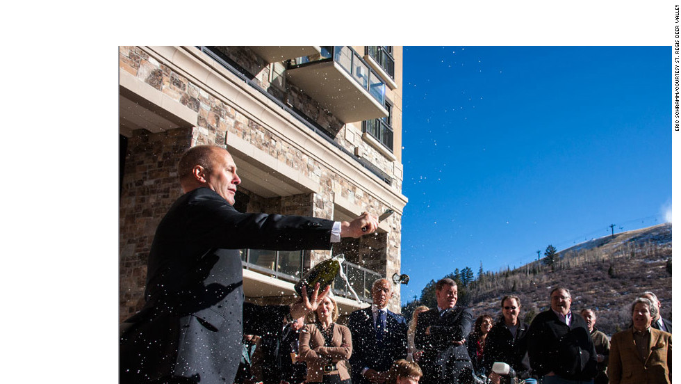 For adventures in bubbly, go to the St. Regis Deer Valley for a demonstration or lesson in slicing into a bottle of champagne with a saber.