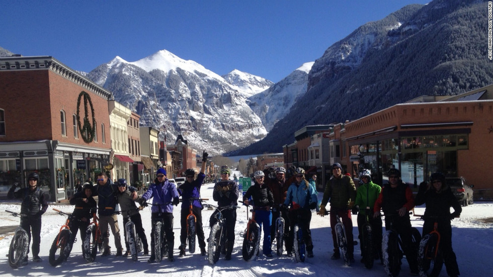 "Telluride outfitter <a href=""http://www.bootdoctors.com"" target=""_blank"">BootDoctors</a> offers tours on ""fat bikes."" Guided Big Tire Bike and Brew trips, which end with a tour and tasting at Telluride Brewing Company, are $99 for a half-day, $149 for a full day."