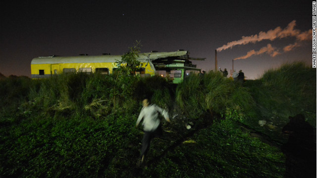 Train derails in Egypt, killing 19
