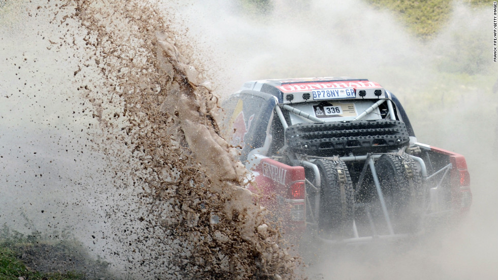 Toyota driver Adam Malysz of Poland competes in the ninth stage of the Dakar 2013 between Tucuman and Cordoba, Argentina, on Monday, January 14.