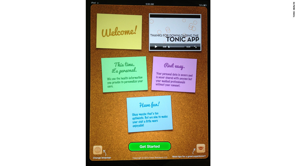 Tonic Health, maker of the health care tablet app, was co-founded by Sterling Lanier and Boris Glantz 2½ years ago. Before Tonic, Lanier was the head of a market research firm.
