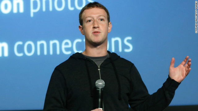 "Facebook CEO Mark Zuckerberg introduces the company's new ""Graph Search"" tool at a press event in California."
