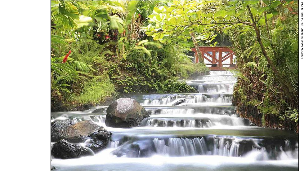Tabacon resort's scenic hot springs are a strong draw for visitors to Arenal.