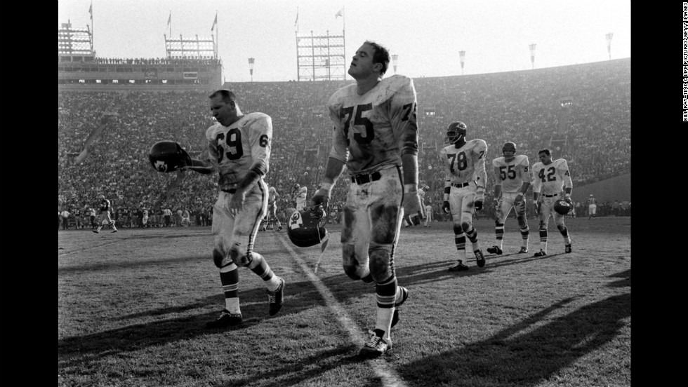 Sherrill Headrick, Jerry Mays and other Kansas City Chiefs, Super Bowl I, 1967.