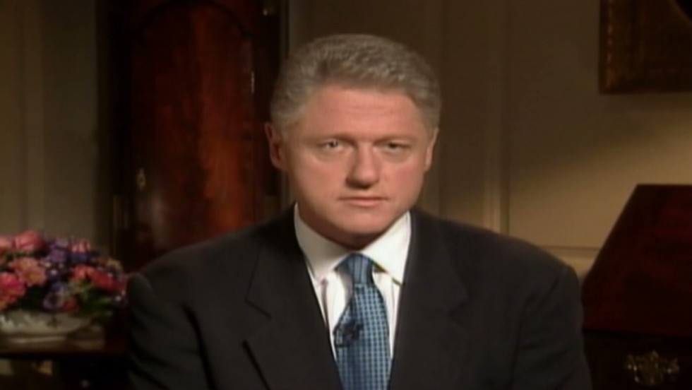 1998: Clinton admits to Lewinsky scandal